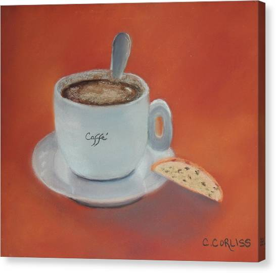 Afternoon Caffe Canvas Print