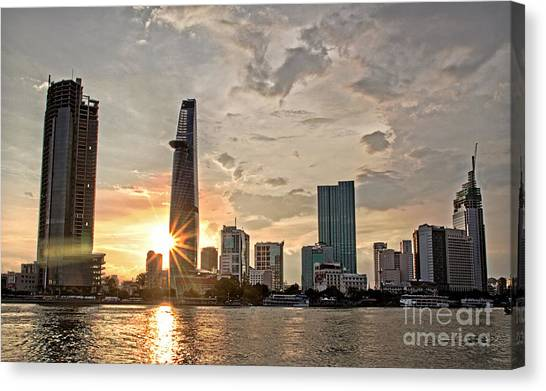 Afternoon City Canvas Print