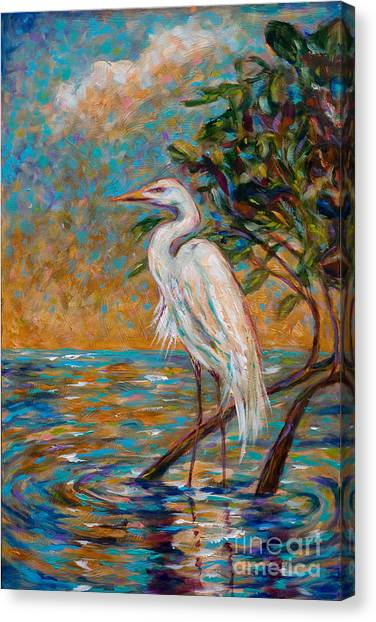 Afternoon Egret Canvas Print