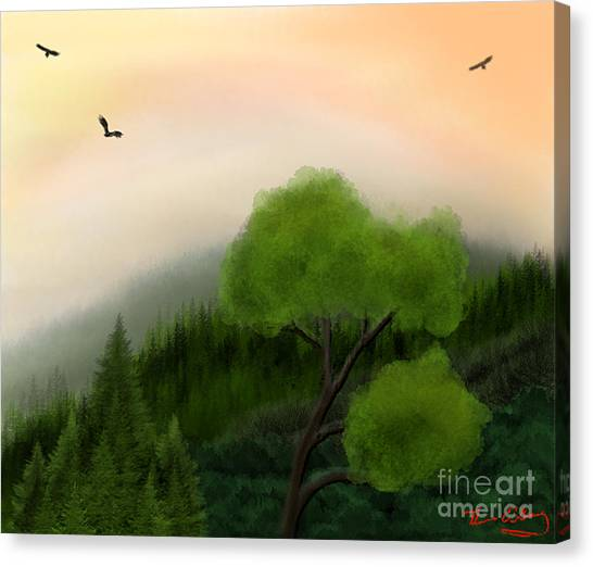 Afternoon Hills Canvas Print