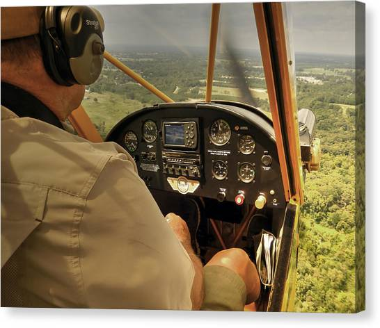 Afternoon In A J3 Cub Canvas Print
