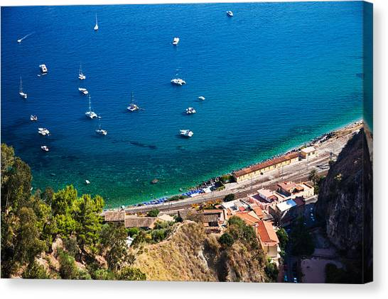 Afternoon In Taormina Canvas Print