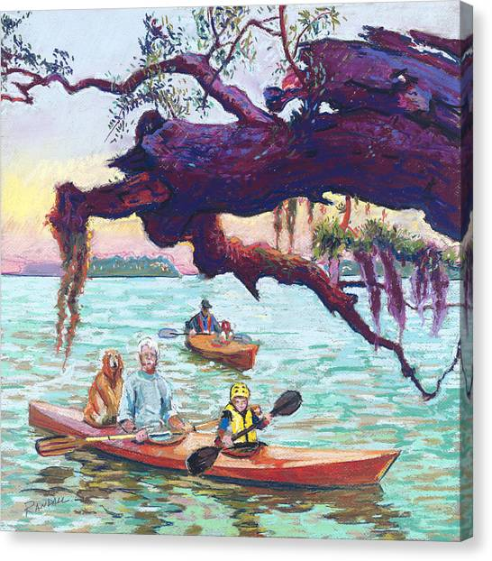 Afternoon Kayak Canvas Print