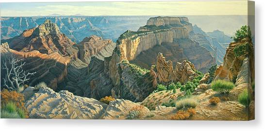 Grand Canyon Canvas Print - Afternoon-north Rim by Paul Krapf