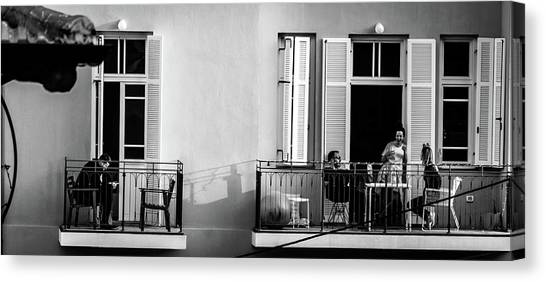 Israeli Canvas Print - Afternoon On The Balcony by Dov Amar