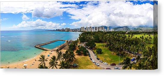 Afternoon On Waikiki Canvas Print