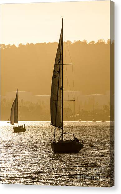 Afternoon Sails A2892 Canvas Print