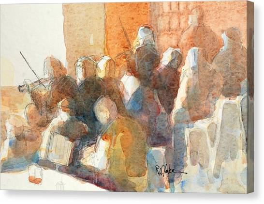 Bluegrass Canvas Print - Afternoon Session by Robert Yonke