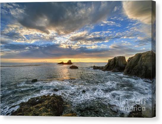 Afternoon Sky In Laguna Beach Canvas Print