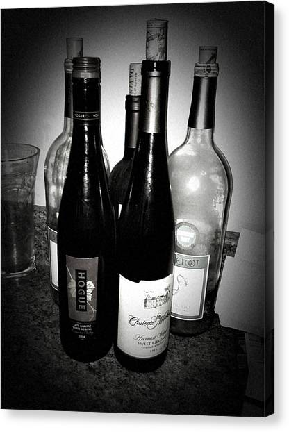 White Wine Canvas Print - Afterparty.  by Tori Reid