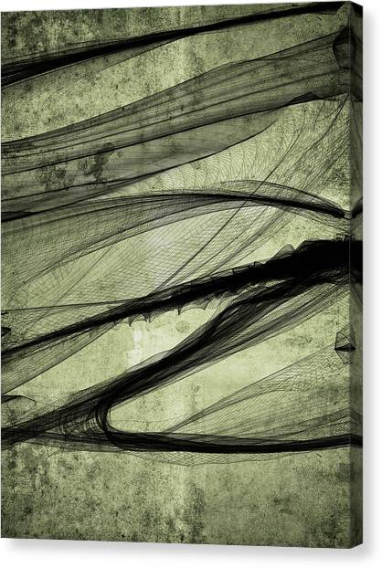 Again The Smokedigital Painting Canvas Print by Guillermo De Llera