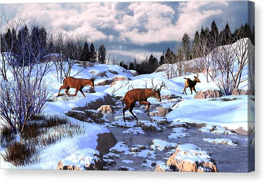 Against The Winter Chill Canvas Print
