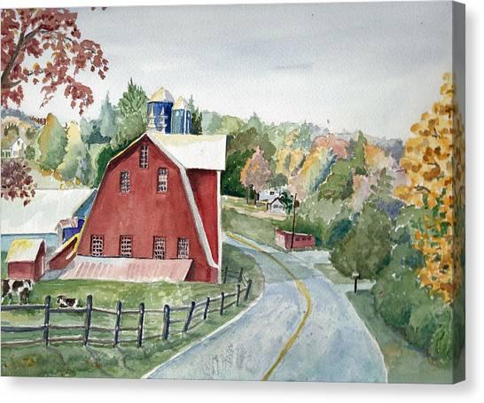 Pennsylvania - Agawam Barn Canvas Print