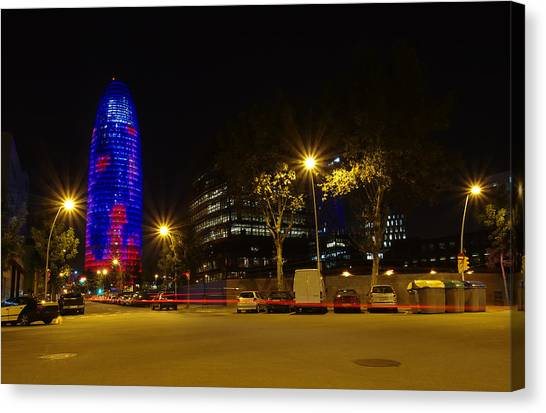 Agbar Tower At Night Canvas Print by Ioan Panaite