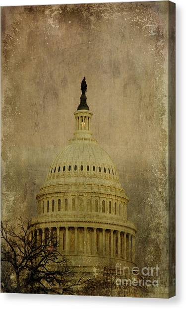 Aged Capitol Dome Canvas Print