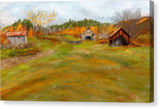 Country Roads Canvas Print - Aged With Character-farm Life by Lourry Legarde