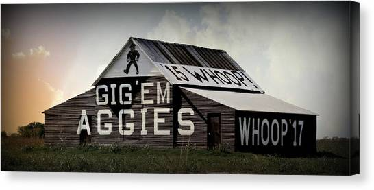The University Of Texas Canvas Print - Aggie Barn 6 - Whoop by Stephen Stookey