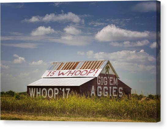 Texas A Canvas Print - Aggie Barn II by Joan Carroll