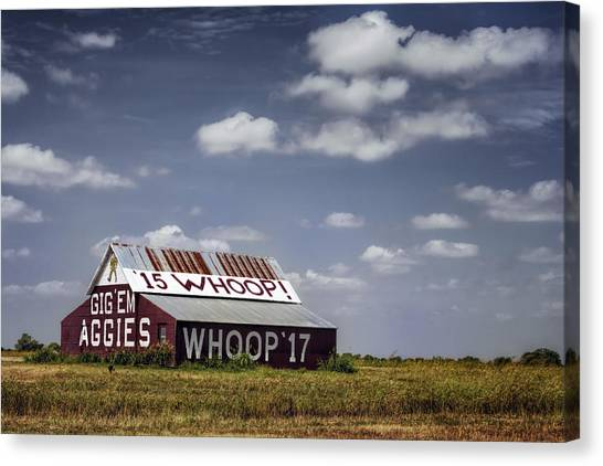 Texas A Canvas Print - Aggie Barn by Joan Carroll