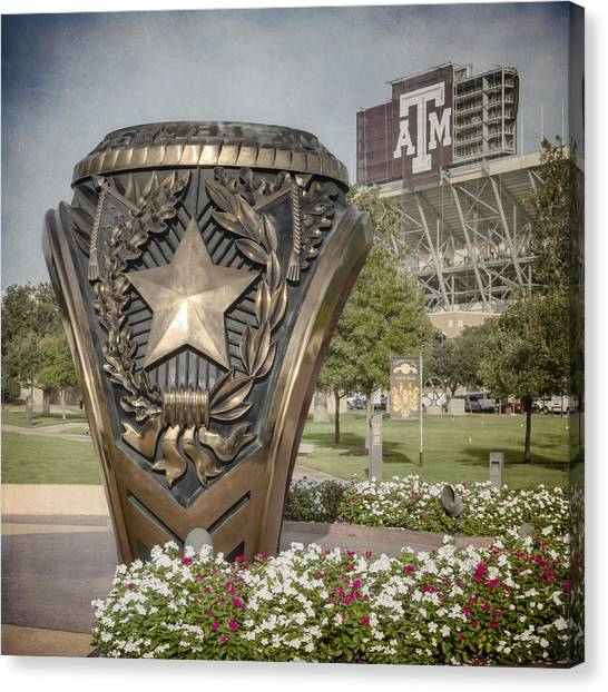 Texas State University Texas State Canvas Print - Aggie Ring II by Joan Carroll