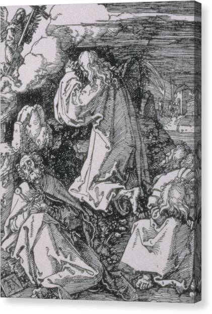Messiah Canvas Print - Agony In The Garden by Albrecht Durer or Duerer