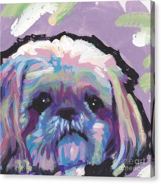 Shih Tzus Canvas Print - Ah Shitzy by Lea S