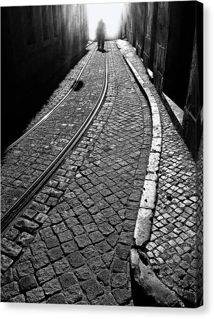 Tracks Canvas Print - Ahead Of Me by Bj Yang