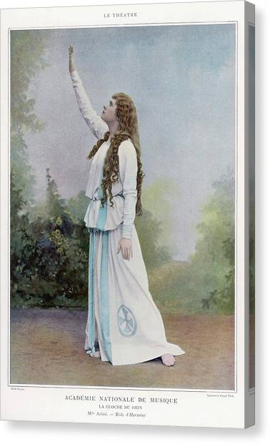 Aino Ackte  Finnish Opera Singer, Seen Canvas Print by Mary Evans Picture Library