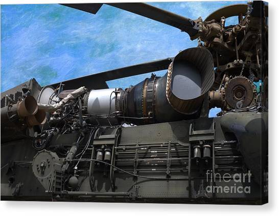 Skycrane Canvas Print - Air - Helicopter - Ch-54 Skycrane - Tarhe  by Liane Wright