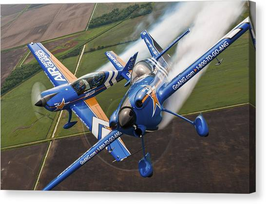 National Guard Canvas Print - Air National Guard Aerobatics by Adam Romanowicz