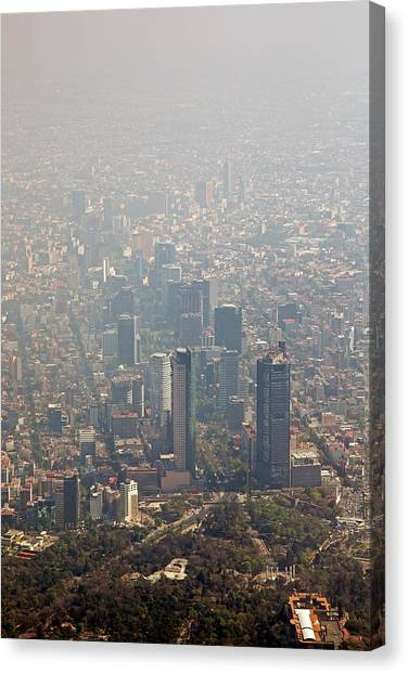 Pollution Canvas Print - Air Pollution In Mexico City by Jim West