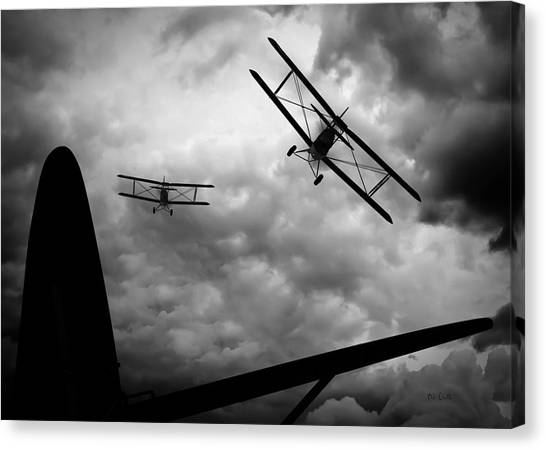 Biplane Canvas Print - Air Pursuit by Bob Orsillo