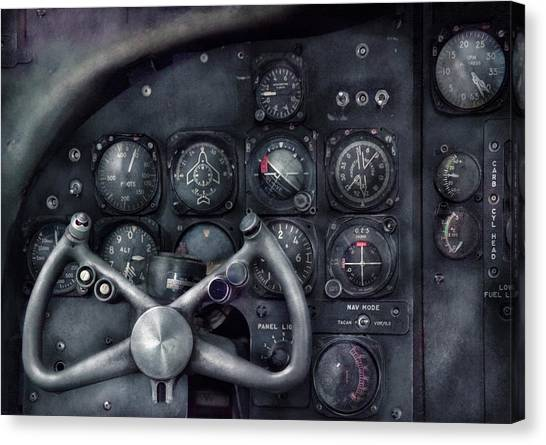 Pilots Canvas Print - Air - The Cockpit by Mike Savad