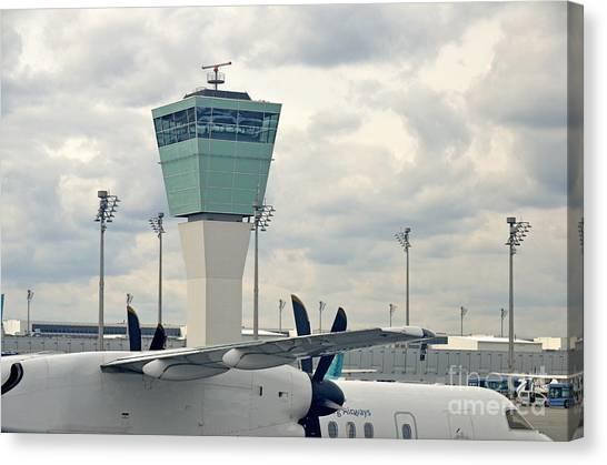 Air Traffic Control Canvas Print - Air Traffic Control Tower by Sami Sarkis