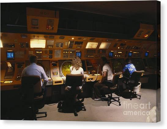 Air Traffic Control Canvas Print - Air Traffic Controllers by Susan Leavines