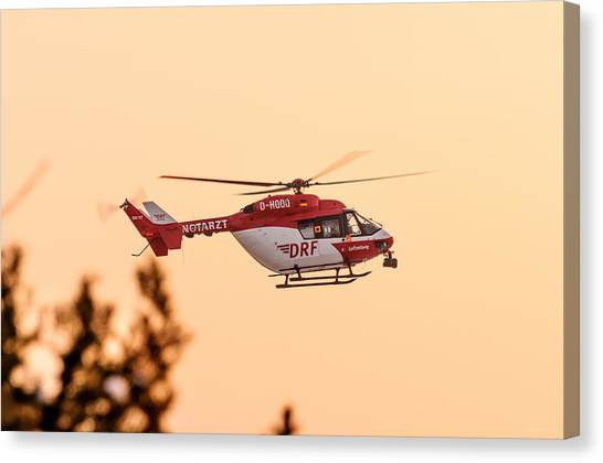 Call Of Duty Canvas Print - Airborne Eurocopter Bk 117 -  Rescue Helicopter by Colin Utz