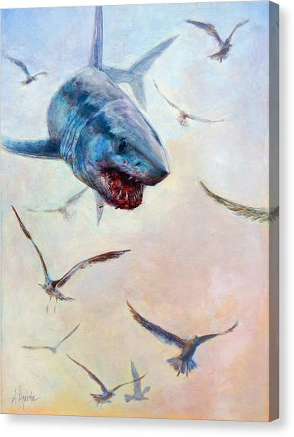 Saltwater Life Canvas Print - Airborne by Tom Dauria