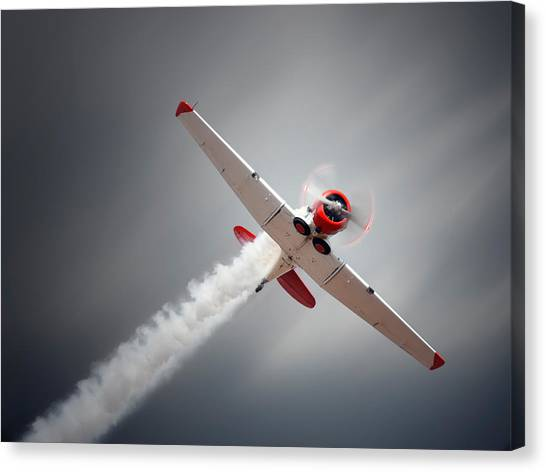 Harvard Canvas Print - Aircraft In Flight by Johan Swanepoel