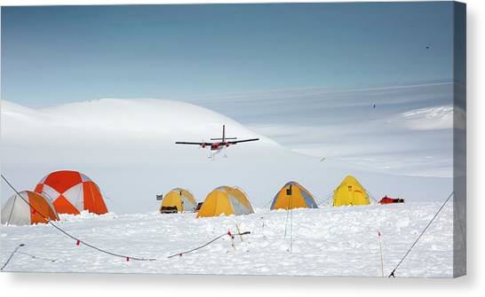 Antarctica Canvas Print - Aircraft Landing by Peter J. Raymond