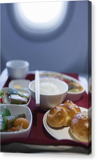 Airline Meal, Business Class Canvas Print by Shui Ta Shan