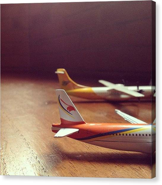 Toy Airplanes Canvas Print - #airphilexpress #cebupacific by Ram Cartney Cortez