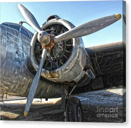 Airplane Propeller - 04 Canvas Print by Gregory Dyer