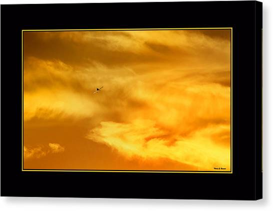 Airplane To The Sun Canvas Print