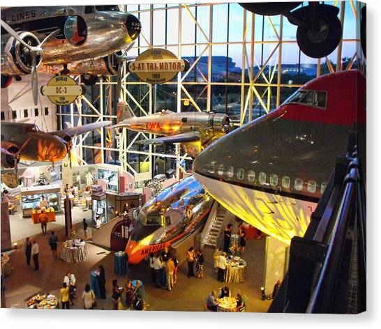 Smithsonian Institute Canvas Print - Airplanes In The Air by Rick Jackson