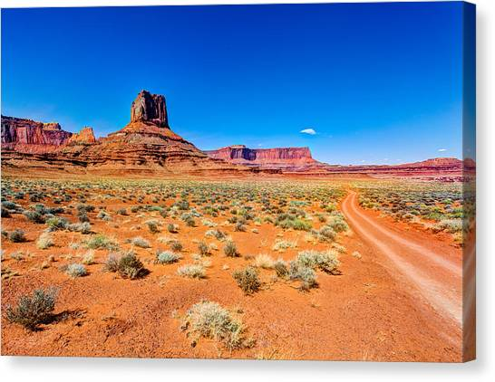 Dirt Road Canvas Print - Airport Tower I by Chad Dutson