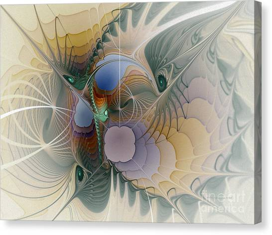 Airy Space-fractal Art Canvas Print