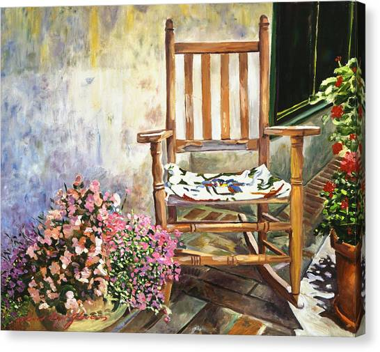 Terra Canvas Print - Aix Country Patio by David Lloyd Glover