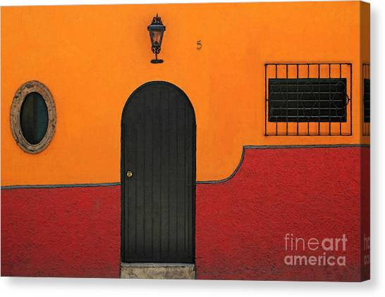 Ajijic Door No.4 Canvas Print