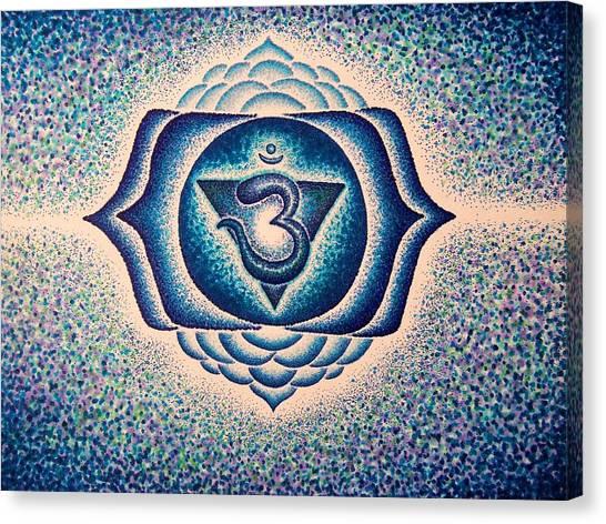 Ajna Third Eye Chakra  Canvas Print by Andrew Zeutzius