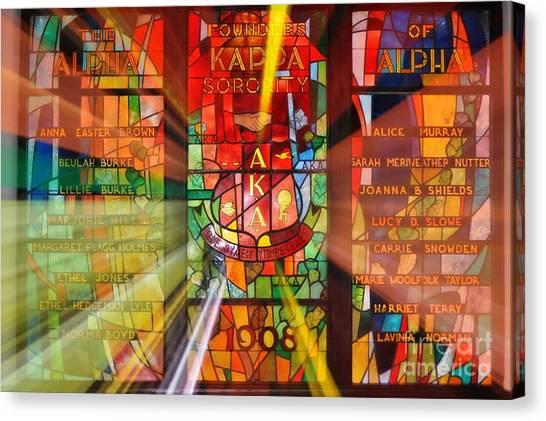 Alpha Kappa Alpha Canvas Print - AKA by Nona Kumah